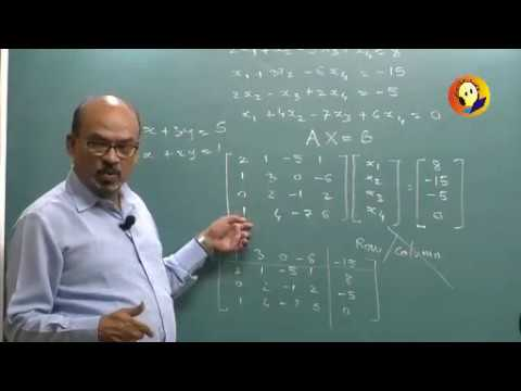 Matrices : Engineering Maths 1 : (F.E.) Lecture 01