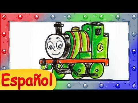 como-dibujar-a-percy-la-pequeña-locomotora-♦-thomas-y-sus-amigos-♦-tutorialde-dibujos-animados
