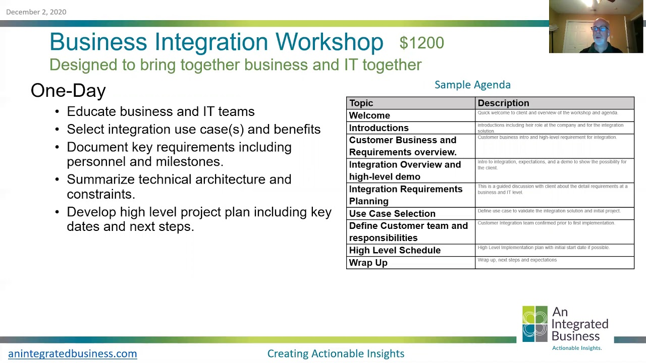 Looking at how to get started with the Business of Integration?