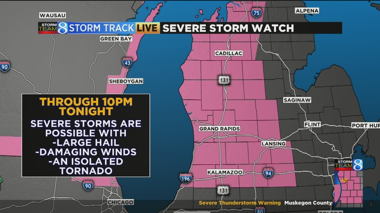 Weather update: Severe thunderstorm watch in effect until 8 p.m.
