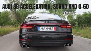 AUDI S8 2020   Sound, Acceleration, Launch 0-62/0-100 and Revs