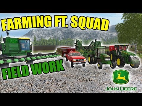 FARMING ON SQUADS SERVER | DAILY CHORES | FARM WORK | FARMING SIMULATOR 2017
