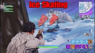 Fortnite Caught team Ice Skating