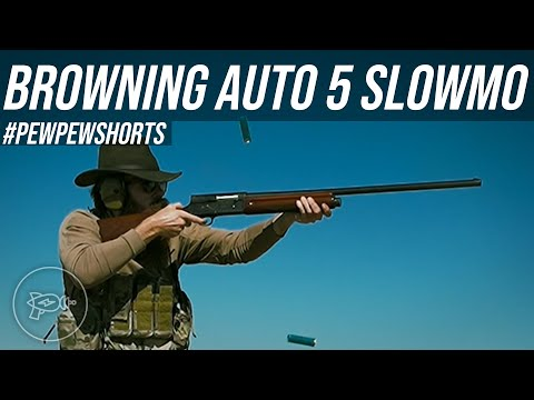 Browning Auto 5: 240FPS Slow Motion [Pew Pew Shorts]