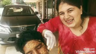 DETAN FOR MY HOUSE CAPTAIN.(detanning my servant's face) Vinod Bhaiya.