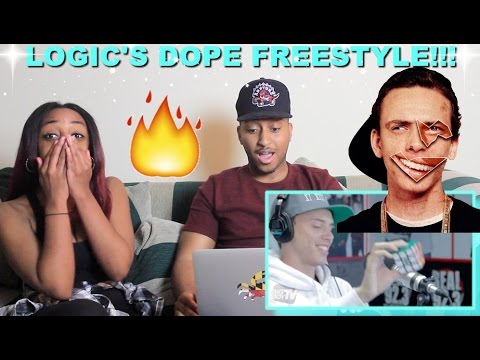 Couple Reacts : Rapper Logic Solves A Rubiks Cube During Freestyle Reaction!!