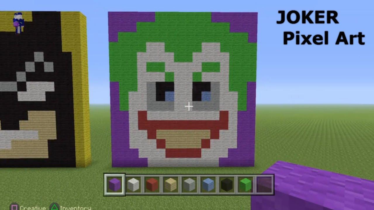 Minecraft Pixel Art Tutorial Joker