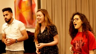 Singing with Israeli and Palestinian artists