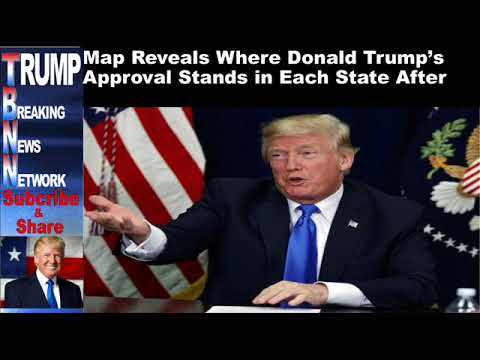Map Reveals Where Donald Trump's Approval Stands in Each State A