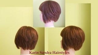 Bob haircut tutorial | short layered haircut tutorial | How to cut short gratuaded Bob haircut