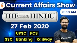 8:00 AM - Daily Current Affairs 2020 by Bhunesh Sir | 27 February 2020 | wifistudy
