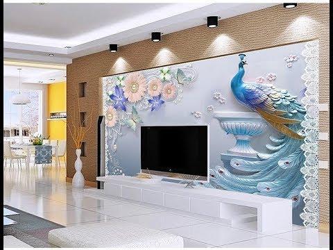 Fall Ceiling Wallpaper Design Latest 5d Wallpaper For Bedroom Living Room As Royal Decor