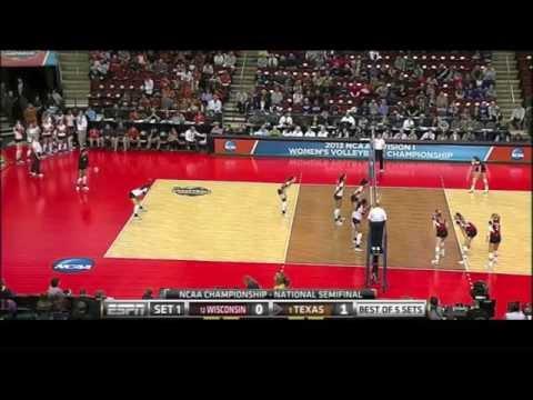 Texas vs Wisconsin NCAA Volleyball 2013 [Set 1]