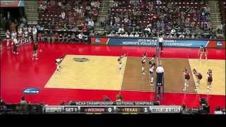 Texas vs Wisconsin NCAA Volleyball 2013 [Set 1]