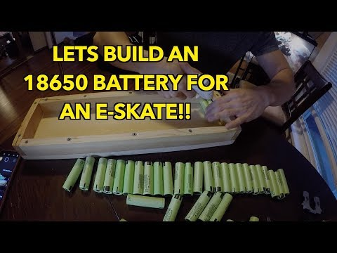 18650 DIY battery build for eSkate