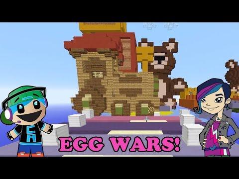 Minecraft EGG WARS in Toy Land with Radiojh Audrey Games
