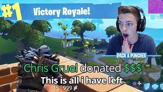 This CRAZY Donation Made Us WIN the FORTNITE Game! (Fortnite Battle Royale)
