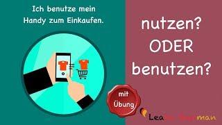 Common Mistakes in German | nutzen oder benutzen? | Learn German | A1 | A2
