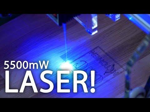 EleksMaker A3 Pro 5500mW Laser - LIVE Unboxing, Assembly & Test