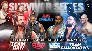 Team RAW Vs Team SMACKDOWN Men's Survivor Series Match Card | Survivor Series 2020 Highlights