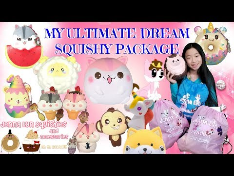 MY ULTIMATE DREAM SQUISHY PACKAGE FROM JENNA LYN SQUISHIES PART 1 OF 2!!! AMAZING LICENSED SQUISHIES