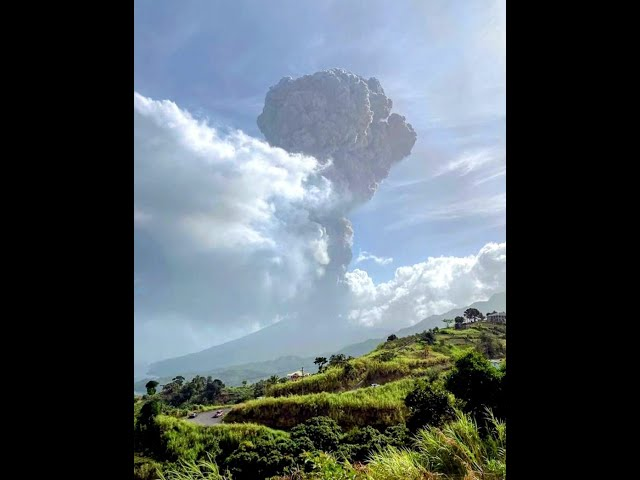 St Vincent Volcano Eruption #shorts