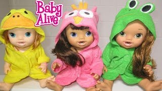 BABY ALIVE Bathtime With Annie, Darci AND Makenzie! thumbnail