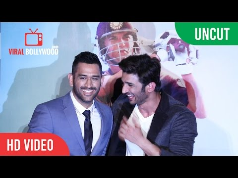UNCUT - M.S.Dhoni - The Untold Story Official Trailer Launch | Sushant Singh Rajput, M.S Dhoni