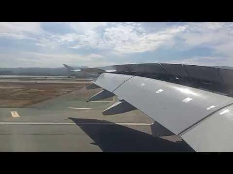 Dubai to San Francisco.  Airbus A380-800.  Emirates 225.  Landing at SFO.