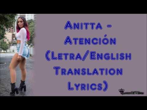 Anitta - Atención (Letra/English Translation Lyrics) [Audio]