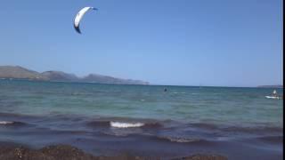 kitesurfing lessons mallorca in Juny Ronald kite student waterstart