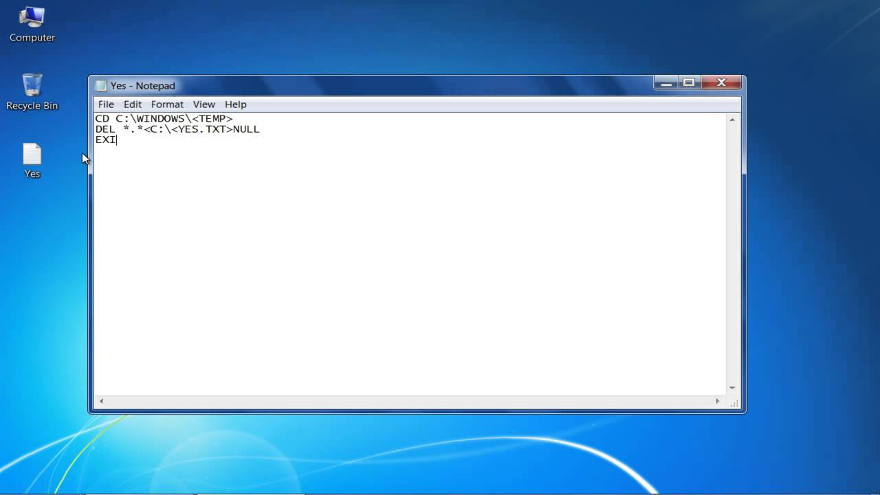 How to Delete Temp Files in Windows 7 Automatically