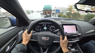 Winter Rainy Day POV Drive 2020 SAIC-GM Cadillac CT5 2.0T 10AT