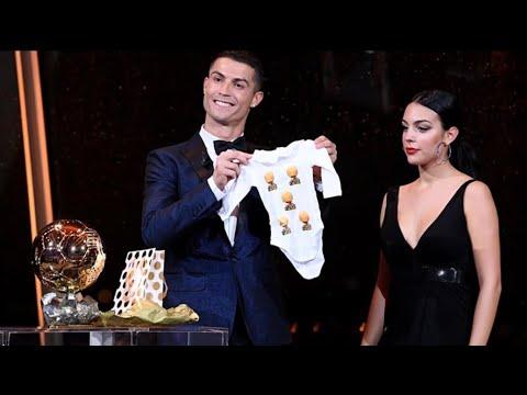 Cristiano Ronaldo and Georgina Rodriguez Ballon D'or 2017   Unexpected Gift