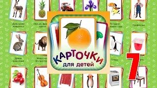 Учебные Карточки (Домана) для детей. №7 - Посуда, Разные вещи и предметы, Цвета