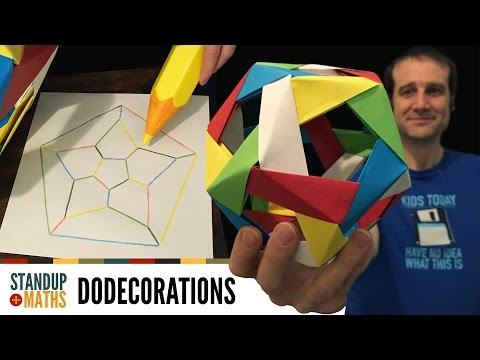 Thumbnail: How to make an edge-coloured origami dodecahedron
