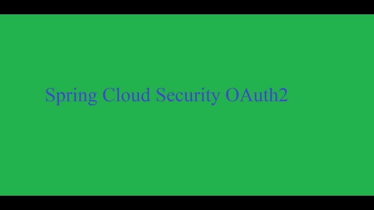 Spring Cloud Security OAuth2 Resource server
