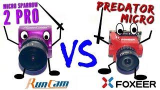 Foxeer Predator Micro V2 vs Runcam Micro Sparrow 2 Pro: guerra de microcámaras