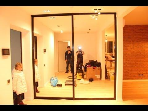 раздвижные двери перегородки в гардеробную