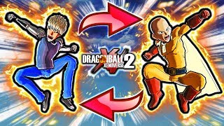 NEW XENOVERSE 2 TAG TEAM CHARACTER SKILL! Dragon Ball Xenoverse 2 One Punch Man & Genos Vs Goku