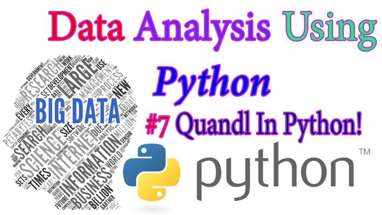 Quandl In Python In Hindi - Python Data science & Big Data Tutorial In  Hindi#7