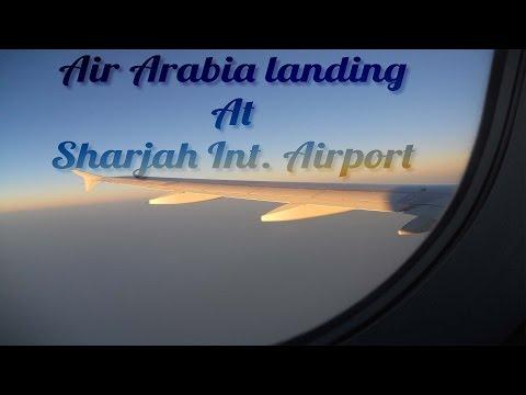 Air Arabia Airbus A320-200 Landing at Sharjah International Airport