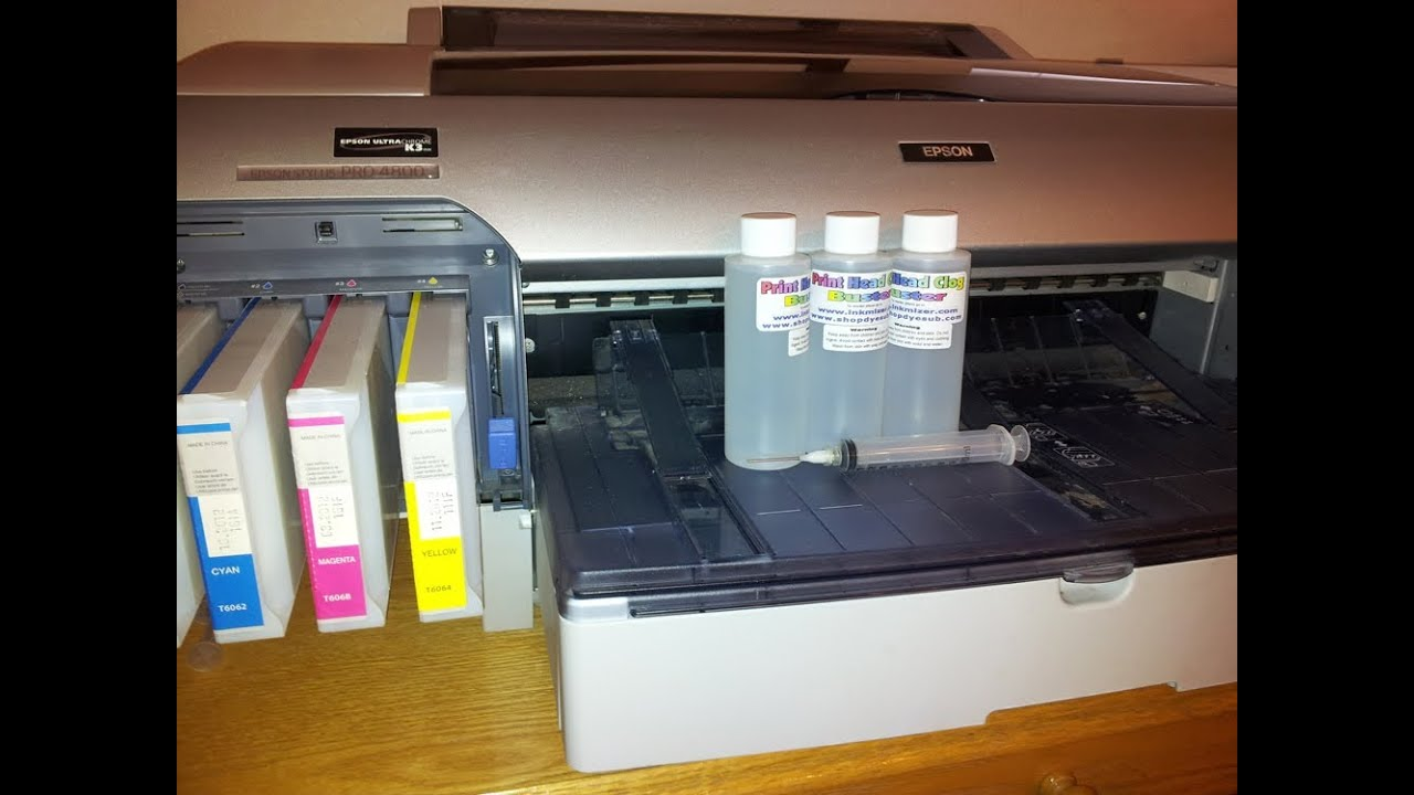 Maintaining and unplugging Epson Print Heads, Epson 4000, 4800, 4880, 7600,  9600, Inkmizer com