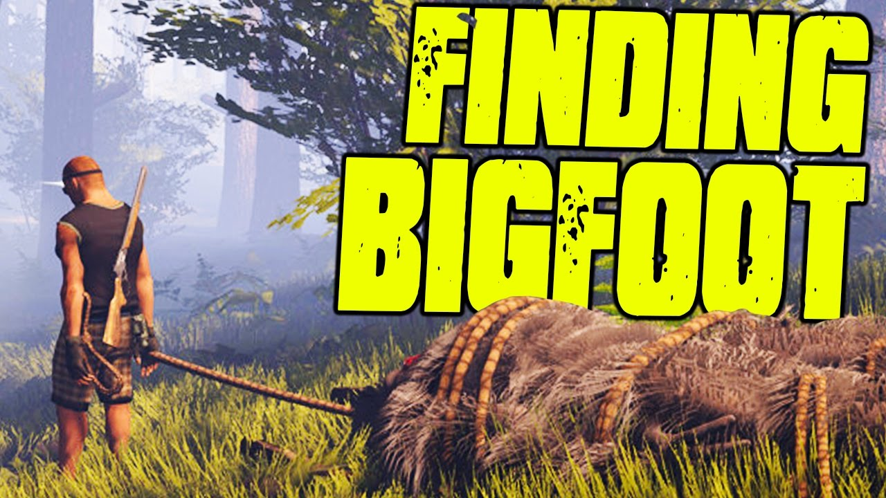 Finding BigFoot - MOST EPIC MONSTER HUNTER GAME IVE EVER PLAYED - (Finding  BigFoot Gameplay)