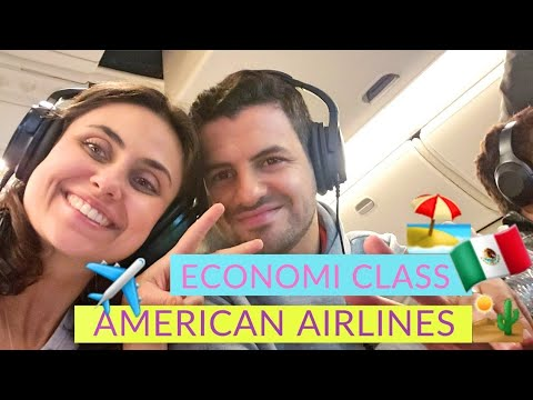 Voando  Para Cancun De Economy Class American Airlines   777-300 ER