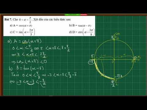 Lượng giác lớp 10|Xét dấu biểu thức lượng giác|Cung và góc lượng giác và giá trị lượng giác của cung