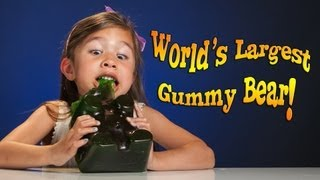 4-year-old Devours WORLD'S LARGEST GUMMY BEAR! thumbnail
