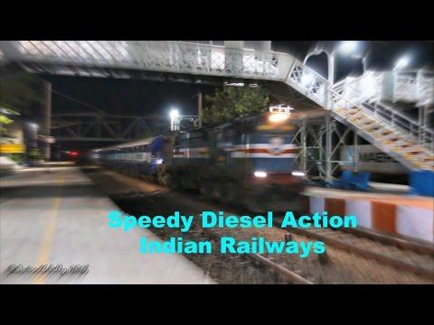 Speedy AlCo+EMD Indian Railways Delhi-Kanpur Section Diesel Action Bonanza!