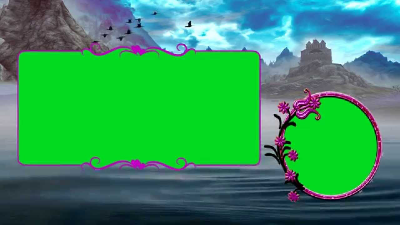 Beautiful Wedding Frame in Green Screen Background Video Downloads