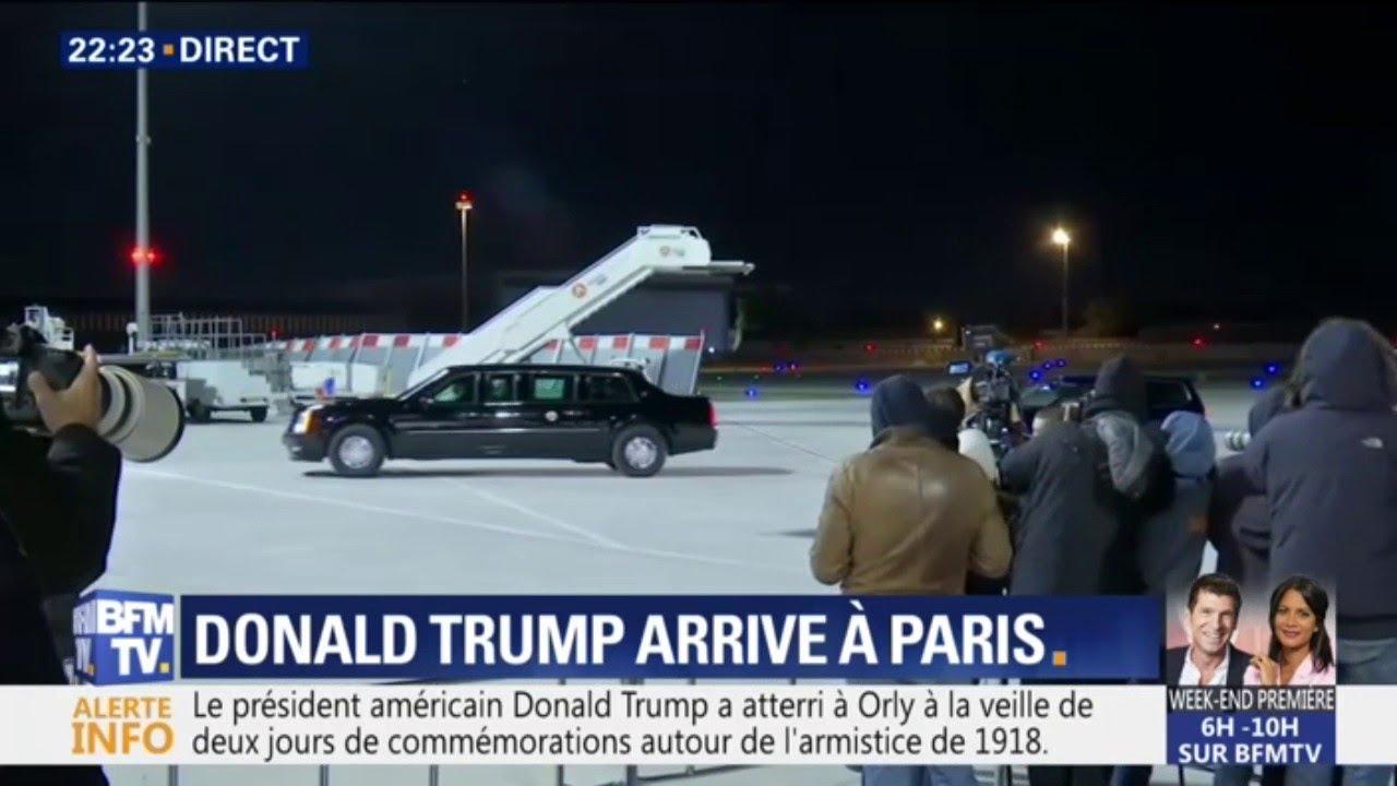 En déplacement à Paris, Donald Trump emmène avec lui près de 1.000 collaborateurs